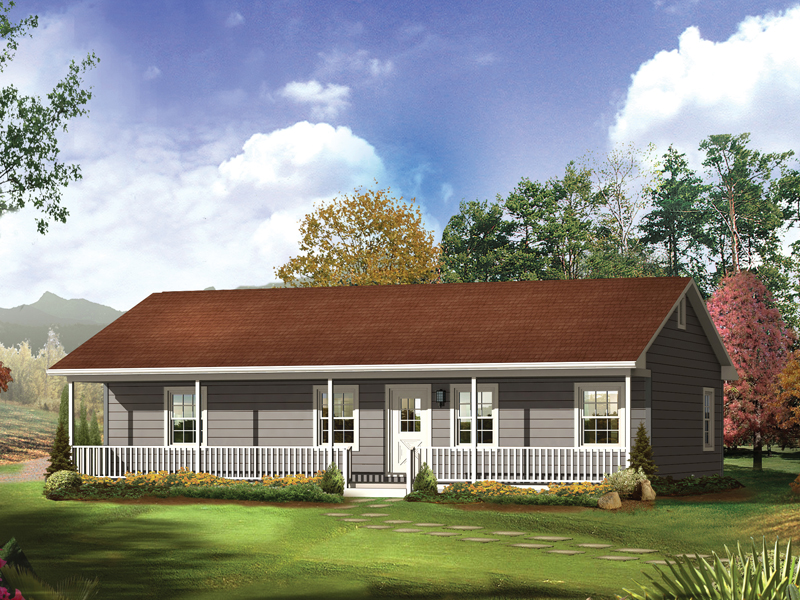 ranch style house plans with basement and wrap around